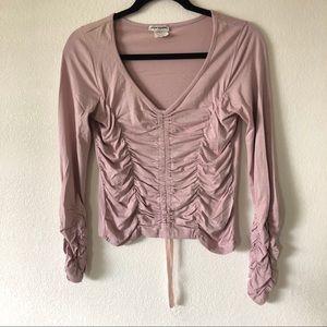 Lavender ruched blouse